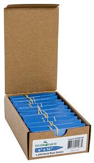 "Plant Stake Labels Blue 4""x5/8"" 1000/CS"