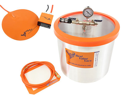 5 Gallon Vacuum Degassing Chamber with Heat Pad