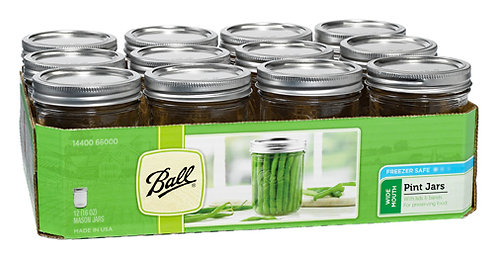 Ball Jar 16oz Wide Mouth Pint (12/cs)