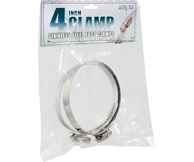 """Stainless Steel Duct Clamps - 4"""""""