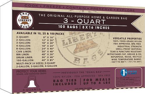 "3 Quart Bags 8"" x 16"" - 100 Pack, Formerly: Quail Bags"
