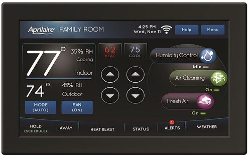 Color Touchscreen Wi-Fi Automation IAQ Thermostat