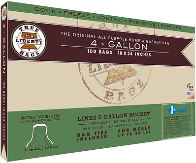"""4 Gallon Bags 18"""" x 24"""" - 100 Pack, Formerly: Goose Bags"""