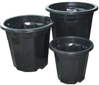 Black Plastic Planter, pack of 75
