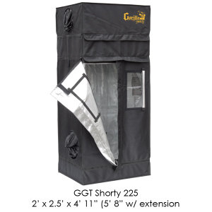 "2'x2.5' Gorilla Grow Tent SHORTY w/ 9"" Extension K"