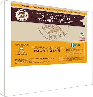 """2 Gallon bags 12"""" x 20"""" - 100 Pack, Formerly: Chicken Bags"""