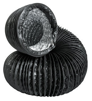 "6""x25' Black Lightproof Ducting w/Clamps"