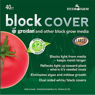 "8"" Rockwool Block Cover, pack of 40"
