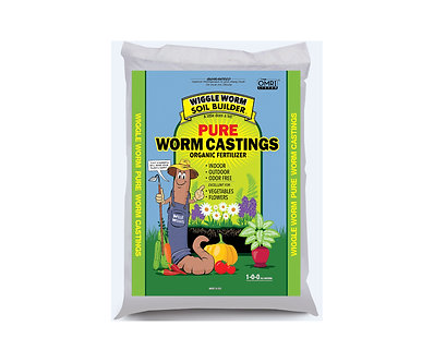 Wiggle Worm Soil Builder PURE Worm Castings 30 lbs