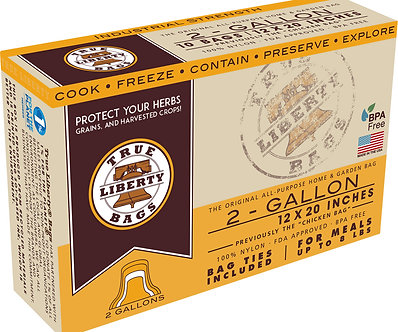 """2 Gallon bags 12"""" x 20"""" - 25 Pack, Formerly: Chicken Bags"""