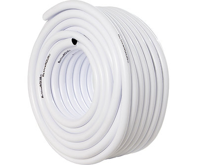 "Active Aqua 1/2"" ID White & Black Tubing 100'"
