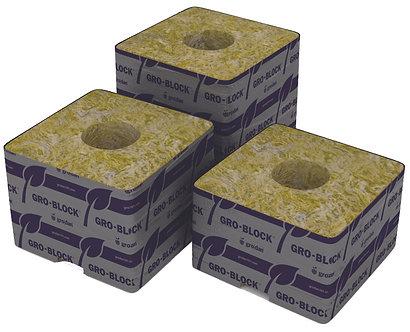 """Delta 4  Block, 3""""x3""""x2.5"""" with hole, case of 384"""