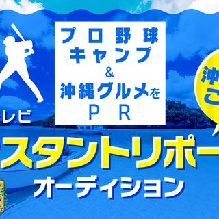 プロ野球沖縄キャンプをPR!地上波テレビ「マングローブMTG」出演オーディション