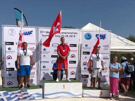 Bronzemedaille für Frank Schulze im Slalom bei der 35+ Wasserski Europameisterschaft