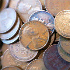 Wheat pennies collection