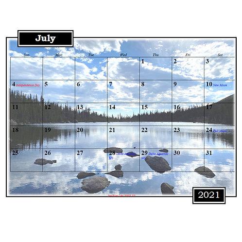 2021 Colorado and Wyoming Mixed Photo Calendar