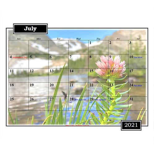 2021 Colorado and Wyoming Plants Calendar