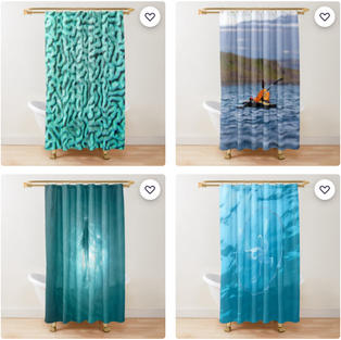 Shower Curtains, Redbubble