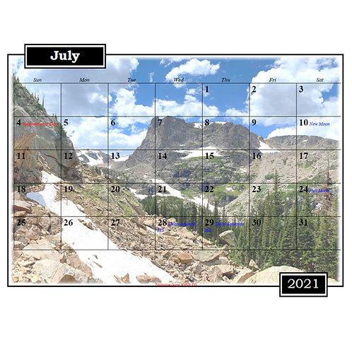 2021 Colorado and Wyoming Landscape Calendar