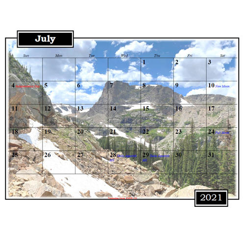 2021 Landscape Calendar