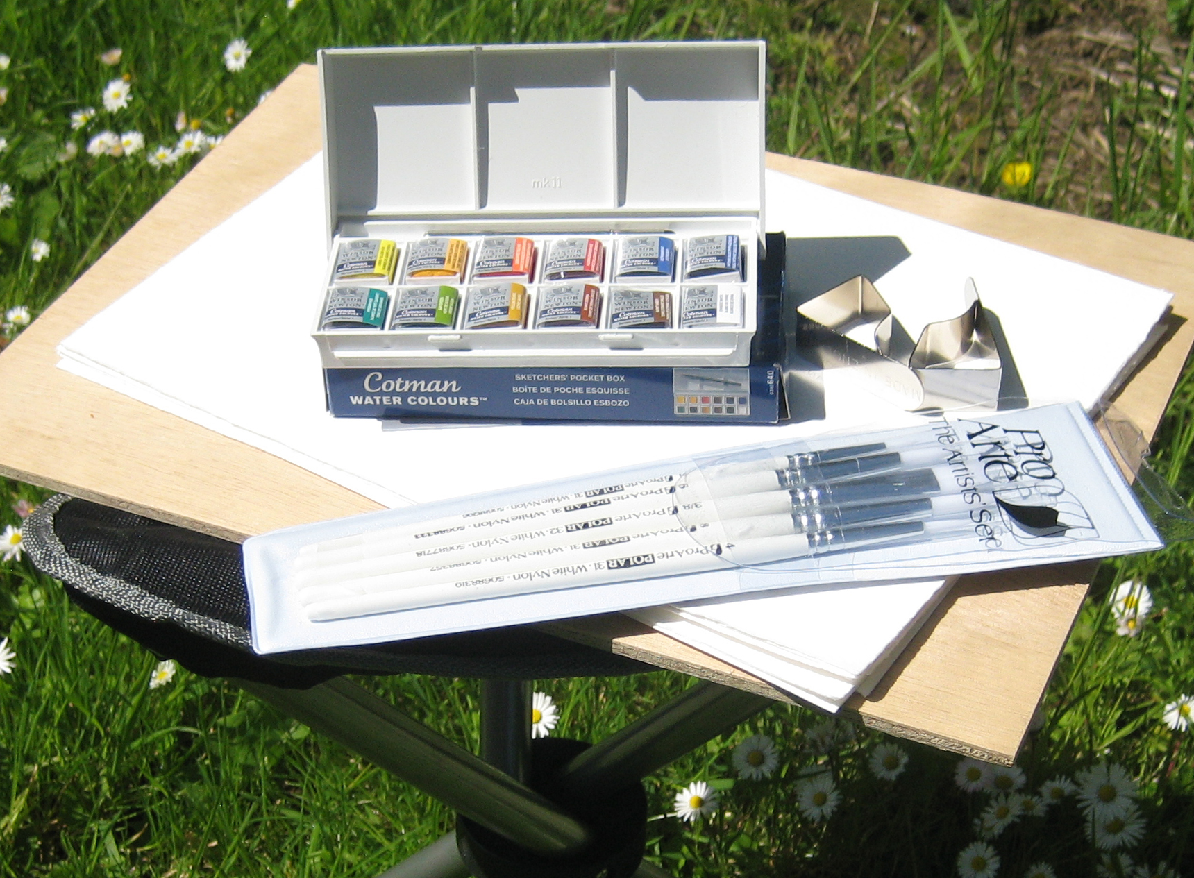 watercolour course equipment