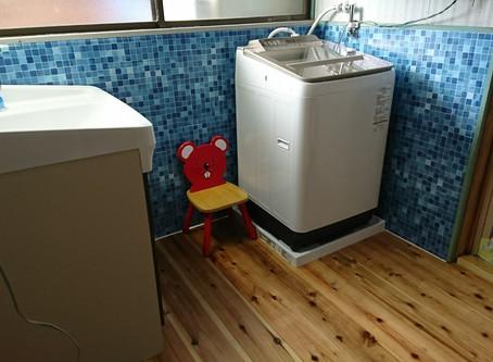 広島県府中市 | 洗面室の床のリフォーム | リメイクシート
