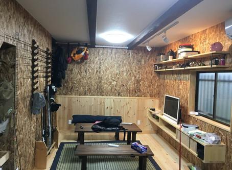 広島県福山市|倉庫を趣味部屋にリフォーム
