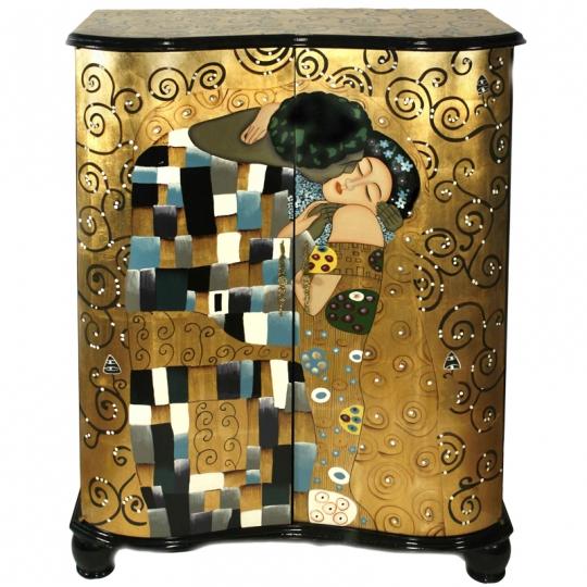 meuble-design-laqué-Le-Baiser-de-Klimt