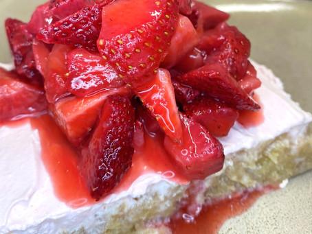Guilt-free Strawberry Shortcake Poke Cake