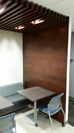 AE Wood Wall - Cafe Seating