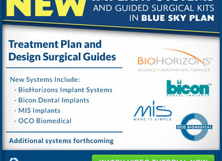 Now in Blue Sky Plan: BioHorizons, MIS, BICON, and OCO Biomedical