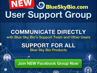 NEW Blue Sky Bio User Support Group