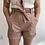Thumbnail: Nude Leatherette Tie Waist Shorts