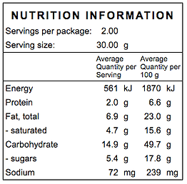salted caramel snack pack nutritional.pn
