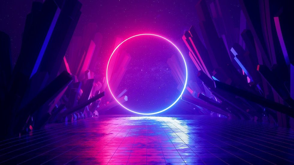 synthwave-gate-crystals-neon-lights-star