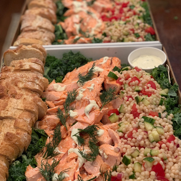 Baked Lemon Salmon with Cous Cous Salad