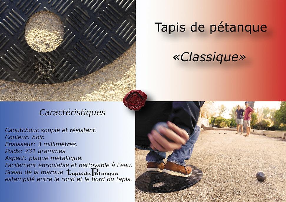pétanque tapis classique caractéristiques