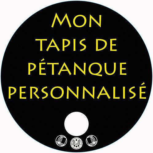"""Tapis de Pétanque """"Luxe"""" PERSONNALISÉ"""