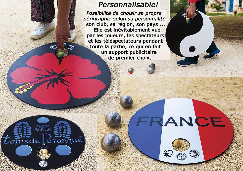 personnalisation pétanque tapis boules