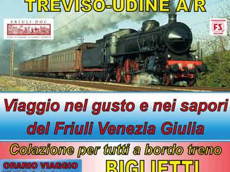 In treno a vapore da Treviso a Udine e ritorno