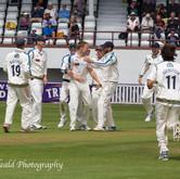 Waite's maideen 1st Class wicket (Hose lbw)