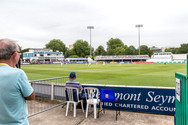 Chelmsford, view towards pavilion and tw