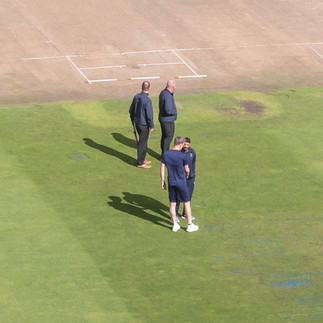 Patterson and Patel shake hands - match