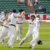 Lyth taking the congratulations for a briiliant victory.