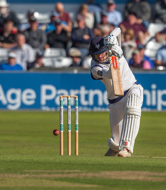 Matthew Revis drives into extra covers,