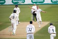 _61Z7553 .Coad takes wicket of Abbott