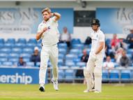 Willey, David 'celebrates' first wicket_