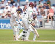 Lyth pouches Davies off Maharaj (his 5th