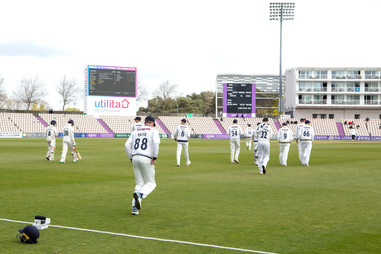 Yorks take to the field at the start of