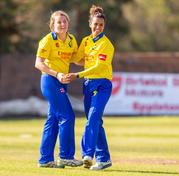 Helen Fenby celebrates wicket of North_6